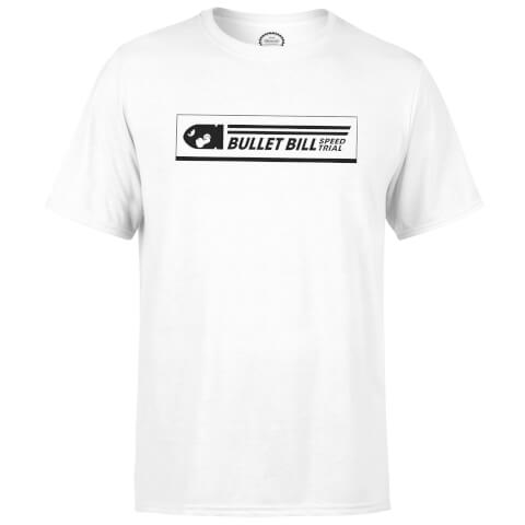 Nintendo Mario Kart Bullet Bill Speed Trial Men's White T-Shirt