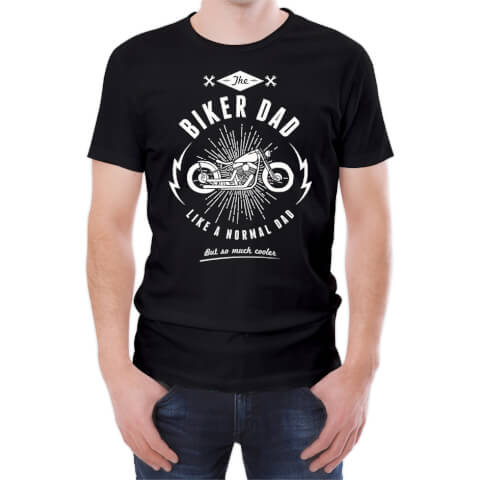 Biker Dad Men's Black T-Shirt