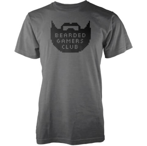 T-Shirt Homme Bearded Gamers Club - Gris Charbon