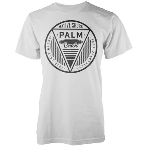 T-Shirt Homme Palm Beach Native Shore - Blanc