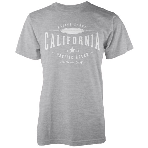 T-Shirt Homme Cali 1978 Native Shore - Gris Clair Chiné