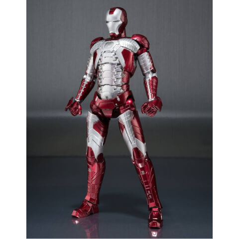 Iron Man 2 S.H. Figuarts Iron Man Mark V & Hall of Armor Set 15cm Action Figure