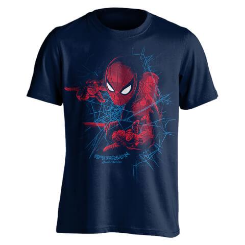 Marvel Spider-Man Men's Web Shooting T-Shirt - Navy