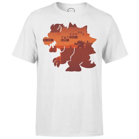 T-Shirt Homme Silhouette Bowser Super Mario Nintendo - Gris Clair