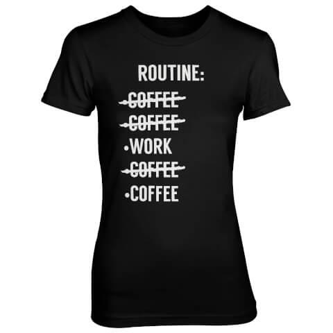 Routine Check List Women's Black T-Shirt