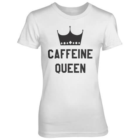 T-Shirt Femme Caffeine Queen - Blanc