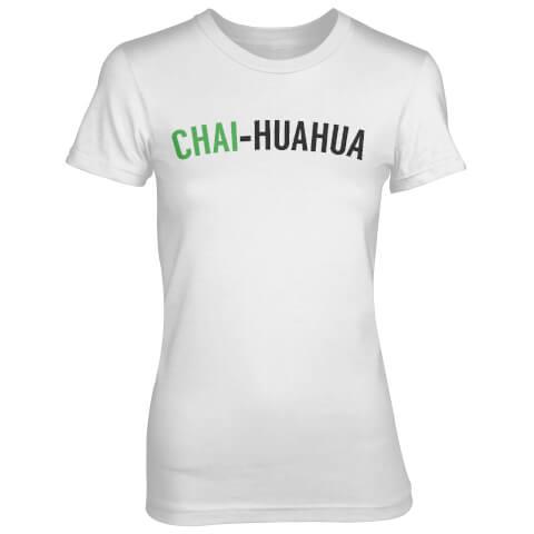 T-Shirt Femme Chai-huahua - Blanc