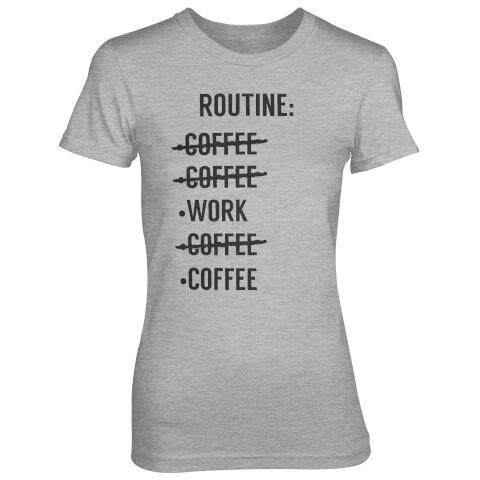T-Shirt Femme Liste Routine - Gris