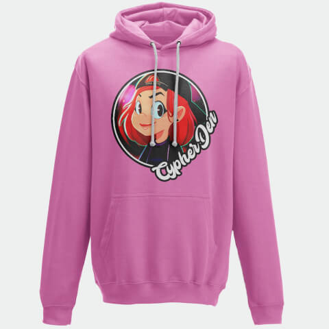 Cypherden Face Insignia Pink Hoodie