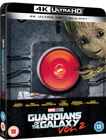 Les Gardiens de la Galaxie 2 - 4K Ultra HD (+Blu-ray 2D) - Steelbook exclusivité Zavvi (Édition UK)