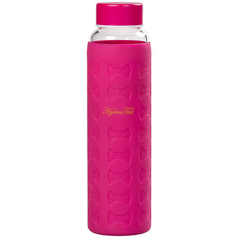 Ted Baker Hot Pink Glass Water Bottle with Silicone Sleeve