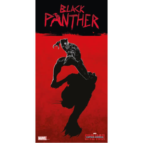 Captain America Civil War Glass Poster - Black Panther (60 x 30cm)