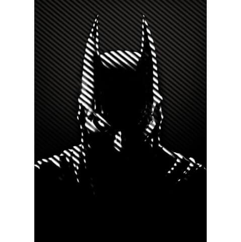 Affiche en Métal DC Comics Batman Noir Justicier Masqué (32 x 45cm)