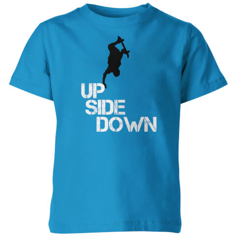 Up Side Down Kid's Blue T-Shirt