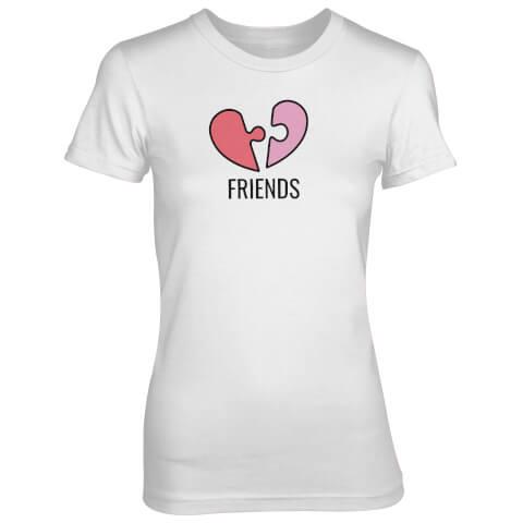 Friends Jigsaw Piece Women's White T-Shirt