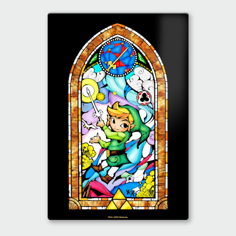Nintendo Legend of Zelda Sword Chromalux High Gloss Metal Poster