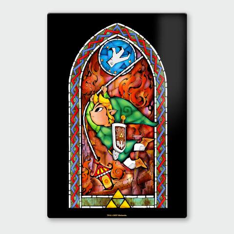 Nintendo Legend of Zelda Grappling Hook Chromalux High Gloss Metal Poster