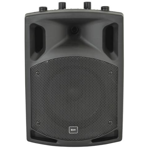 QTX QX8BT Active Moulded Bluetooth Speaker - Black (8 Inch Driver)