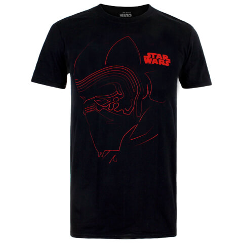 Star Wars Men's The Last Jedi Kylo Outline T-Shirt - Black