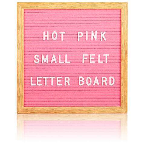Square Premium Felt Letter Board - Pink