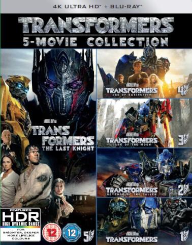 Transformers: 5-Movie Collection - 4K Ultra HD (Bonus Disc)