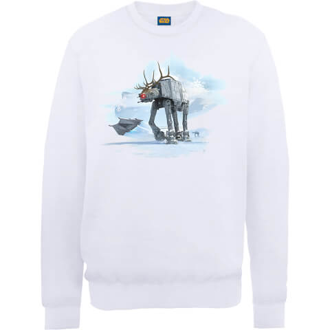 Star Wars AT-AT Christmas Reindeer White Christmas Sweatshirt
