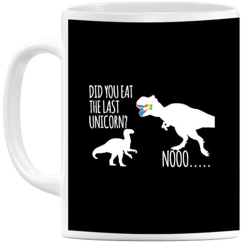 Dinosaur Unicorn (white) Mug