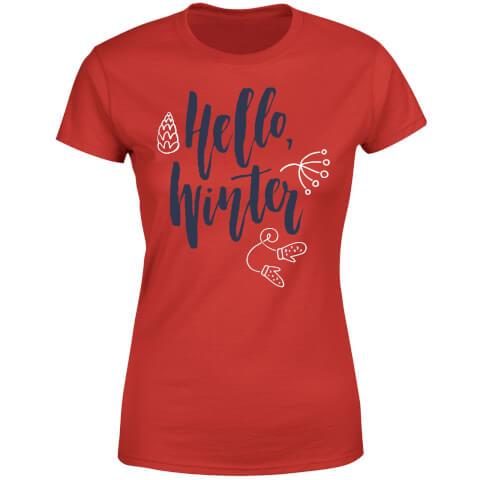 Hello Winter Women's T-Shirt - Red