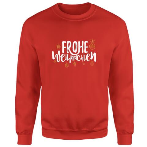Frohe Weihnachten Sweatshirt - Red
