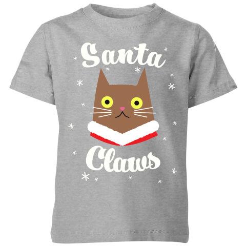 Santa Claws Kids' T-Shirt - Grey