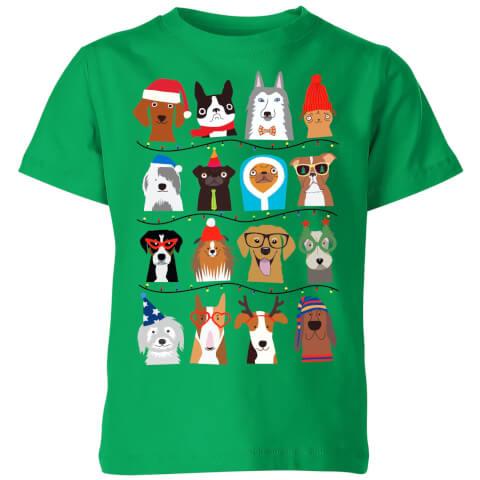 Merry Dogmas Kids' T-Shirt - Kelly Green