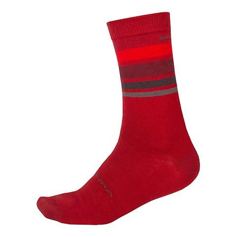 BaaBaa Merino Stripe Sock - Red