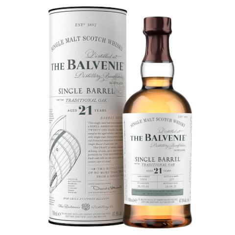 The Balvenie Single Barrel 21 Year Old Single Malt Scotch Whisky 70cl