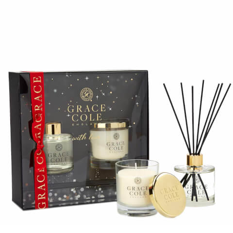 Delightful Duo - Nectarine Blossom & Grapefruit Candle 200g and Reed Diffuser 200ml