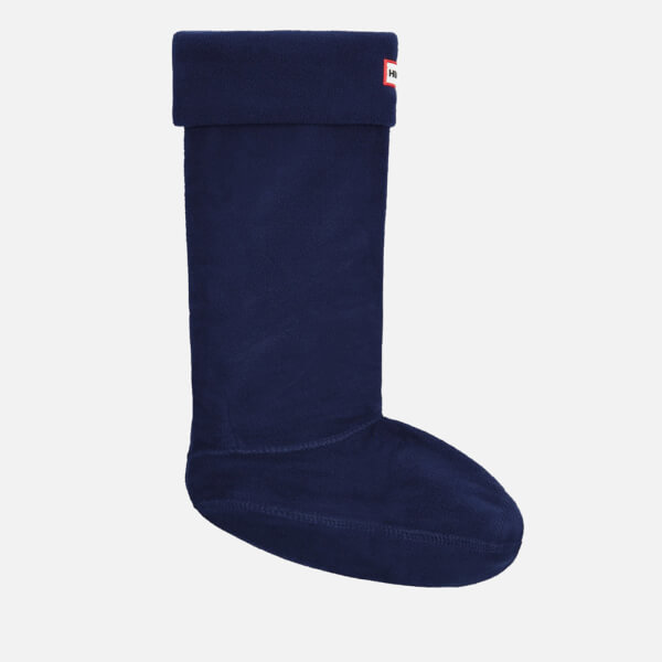 Hunter Unisex Fleece Welly Socks - Navy