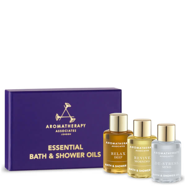 Aromatherapy Associates Essentials Relax, De-stress & Revive Bath Oils 3x .25oz