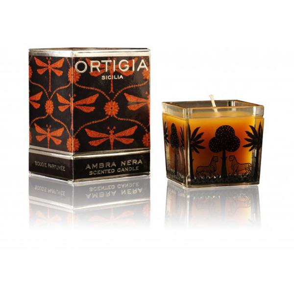 Ambra Nera Square Candle d'Ortigia