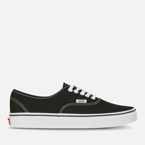 vans unisex authentic canvas sneaker schwarz weiss. Black Bedroom Furniture Sets. Home Design Ideas