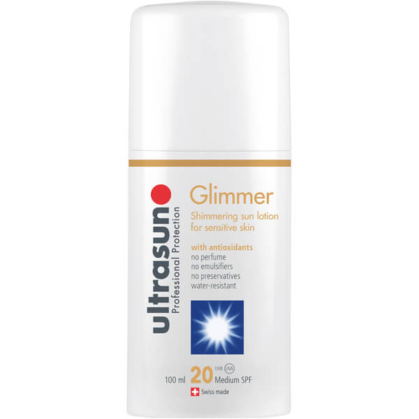 Ultrasun Glimmer Spf20 - Sensitive Formula (100 ml)