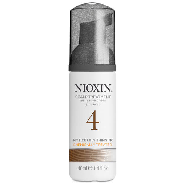 NIOXIN System 4 Scalp and Hair Treatment with Sunscreen for Fine, Noticeably Thinning, Chemically Treated Hair (100 ml)