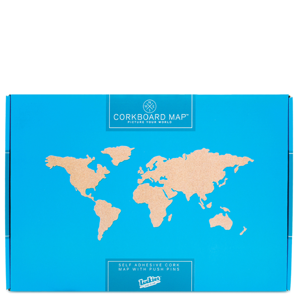 Cork board world travel map iwoot cork board world travel map gumiabroncs Gallery