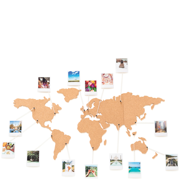 Cork board world travel map iwoot cork board world travel map gumiabroncs Images