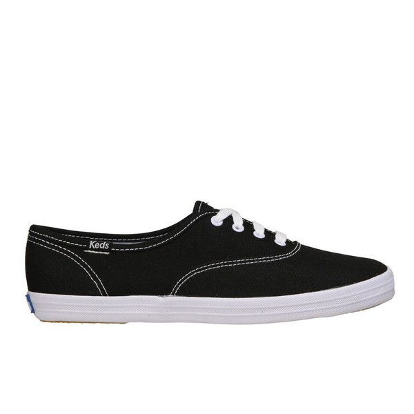Keds Women's Champion CVO Core Canvas Trainers - Black/White