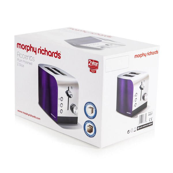 Morphy Richards Accents Coffee Maker Plum : Morphy Richards 44207 Accents 2 Slice Polished Toaster - Plum Homeware TheHut.com