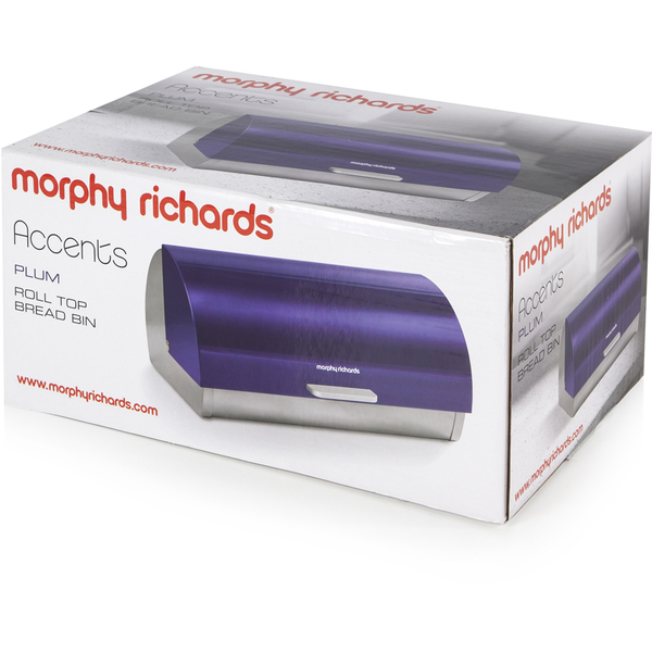 morphy richards 46243 roll top bread bin plum homeware. Black Bedroom Furniture Sets. Home Design Ideas