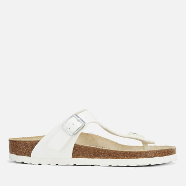 BIRKENSTOCK Gizeh White Womens Leather Sandals-4 yXZdNfo