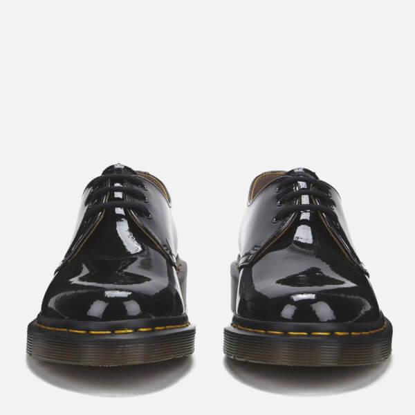 vollständig in den Spezifikationen authentische Qualität Preis vergleichen Dr. Martens Women's 1461 Patent Lamper 3-Eye Shoes - Black