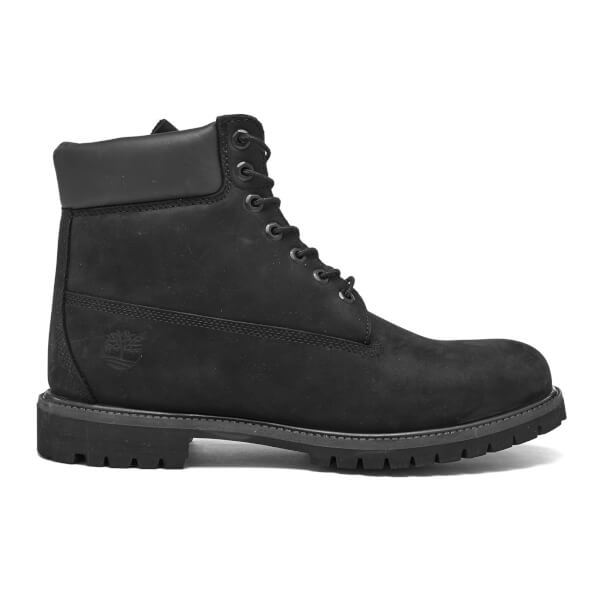 Timberland Men's 6 Inch Premium Leather Boots - Black