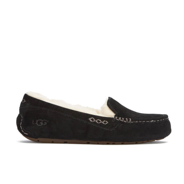 UGG Women's Ansley Moccasin Suede Slippers - Black