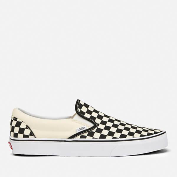 Vans Classic Slip-On Canvas Trainers - Black/White